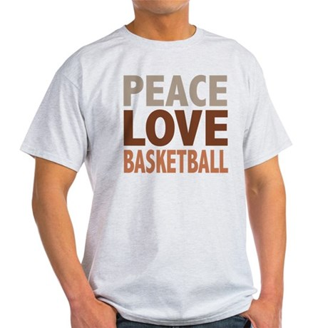 Peace Love Basketball Light T-Shirt