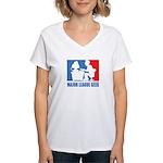 ML Geek Women's V-Neck T-Shirt