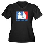 ML Geek Women's Plus Size V-Neck Dark T-Shirt