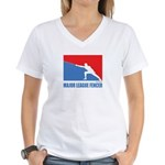 ML Fencer Women's V-Neck T-Shirt