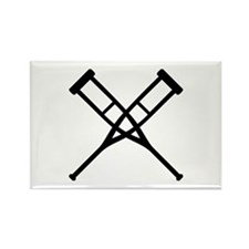 Crutches Rectangle Magnet (10 pack)