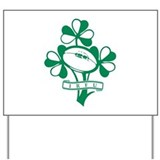 irish football 2 Yard Sign