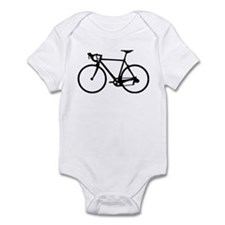 Racer Bicycle black Infant Bodysuit