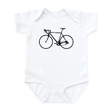 Racer Bicycle black Onesie