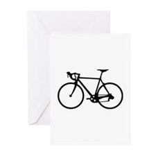 Racer Bicycle black Greeting Cards (Pk of 10)