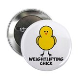 "Weightlifting Chick 2.25"" Button (10 pack)"