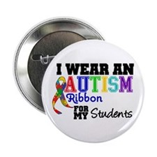 "Autism Ribbon Students 2.25"" Button"