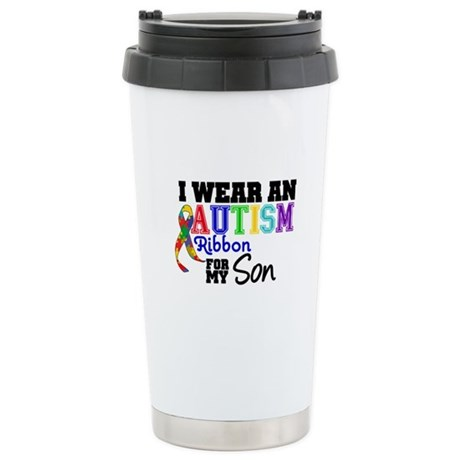 Autism Ribbon Son Ceramic Travel Mug