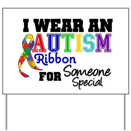 Autism Ribbon Special Yard Sign