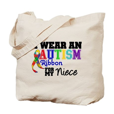 Autism Ribbon Niece Tote Bag