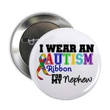 "Autism Ribbon Nephew 2.25"" Button"