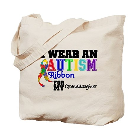 Autism Ribbon Granddaughter Tote Bag