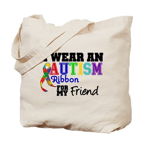 Autism Ribbon Friend Tote Bag
