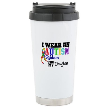 Autism Ribbon Daughter Ceramic Travel Mug