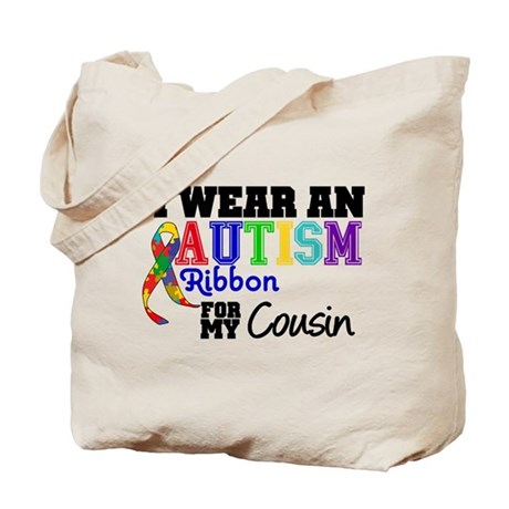 Autism Ribbon Cousin Tote Bag