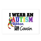 Autism Ribbon Cousin Postcards (Package of 8)