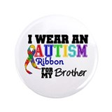 "Autism Ribbon Brother 3.5"" Button (100 pack)"