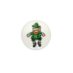 St. Patrick's Leprechaun Mini Button (10 pack)
