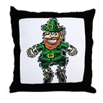 St. Patrick's Leprechaun Throw Pillow