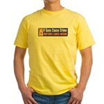 Guns and Arson Yellow T-Shirt