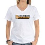 Guns and Arson Women's V-Neck T-Shirt
