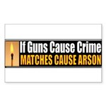 Guns and Arson Rectangle Sticker 10 pk)