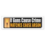 Guns and Arson Bumper Sticker (50 pk)