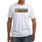 Guns and Arson Fitted T-Shirt
