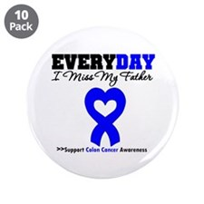 "ColonCancerHeart Father 3.5"" Button (10 pack)"