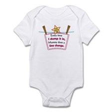 line change dump Infant Bodysuit