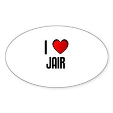 I LOVE JAIR Oval Decal