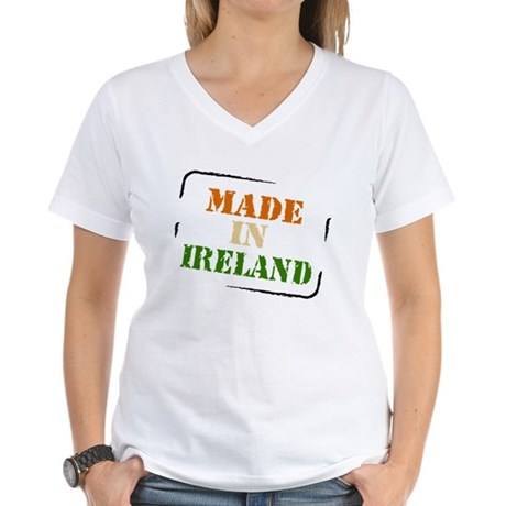 Made in Ireland Women's V-Neck T-Shirt