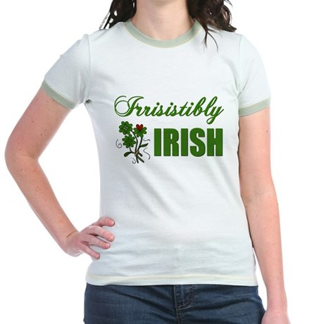 Irrisistibly Irish Jr. Ringer T-Shirt