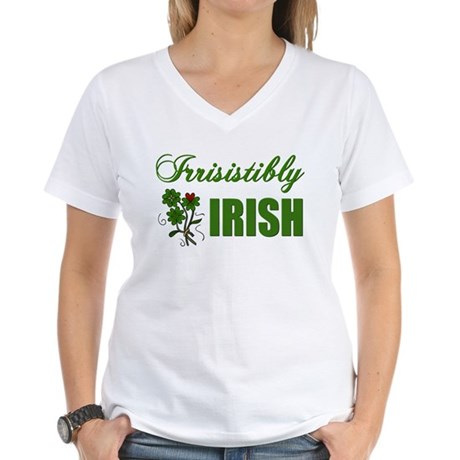 Irrisistibly Irish Women's V-Neck T-Shirt