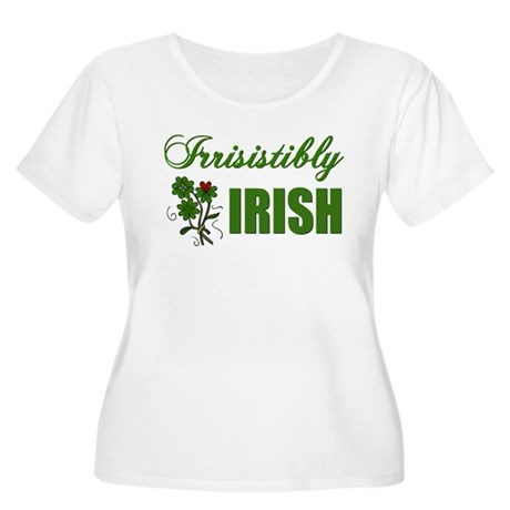 Irrisistibly Irish Women's Plus Size Scoop Neck T-