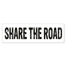 Share The Road Bumper Bumper Sticker