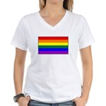 Rainbow Pride Flag Women's V-Neck T-Shirt