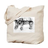 Emi, The Sumatran Rhino Tote Bag by Lina Johnson