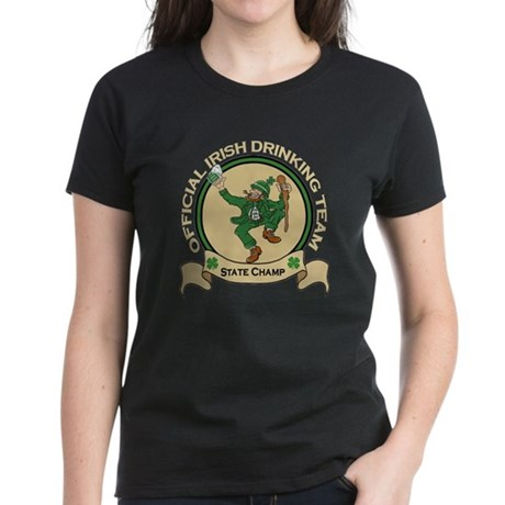 Official Irish Drinking Team Women's Dark T-Shirt
