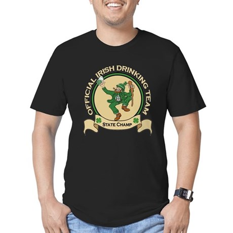 Official Irish Drinking Team Men's Fitted T-Shirt