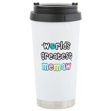 World's Greatest Memaw! Ceramic Travel Mug