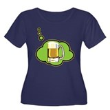 Beer Thinker Women's Plus Size Scoop Neck Dark T-S