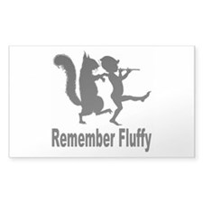 Fluffy Rectangle Sticker 10 pk)