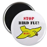 "Stop Bird Flu 2.25"" Magnet (10 pack)"
