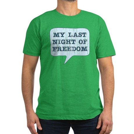 Last Night of Freedom Men's Fitted T-Shirt (dark)