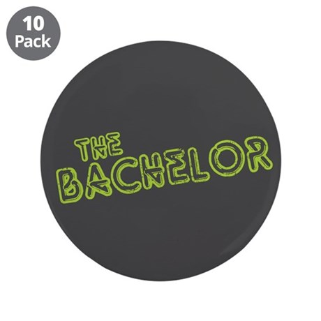 "Green ""The Bachelor&quot 3.5"" Button (10 pack"