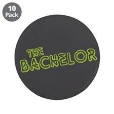 """Green """"The Bachelor&quot 3.5"""" Button (10 pack"""