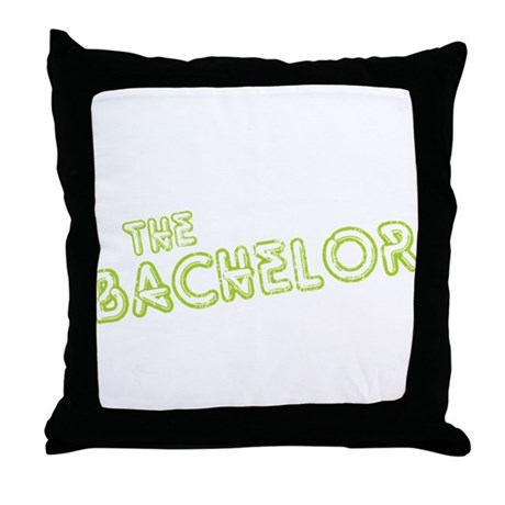 "Green ""The Bachelor&quot Throw Pillow"