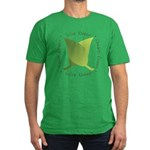Live Green Think Green Men's Fitted T-Shirt (dark)