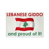 Proud Lebanese Giddo (Grandpa) Rectangle Magnet (1